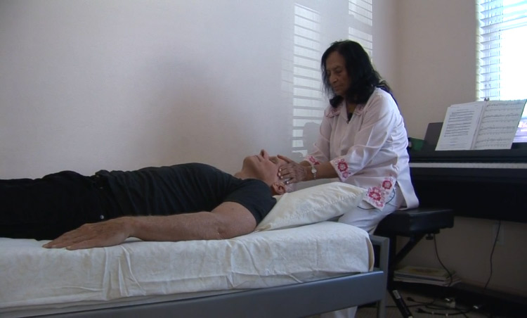 Dr Bina Shah running energy healing for her patients